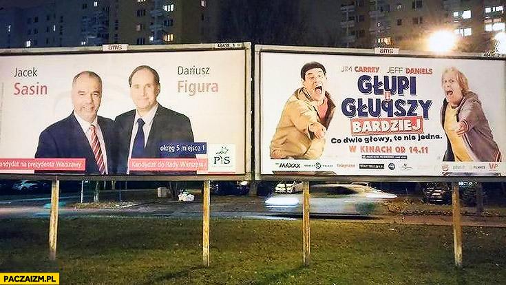 Plakat wyborczy głupi i głupszy