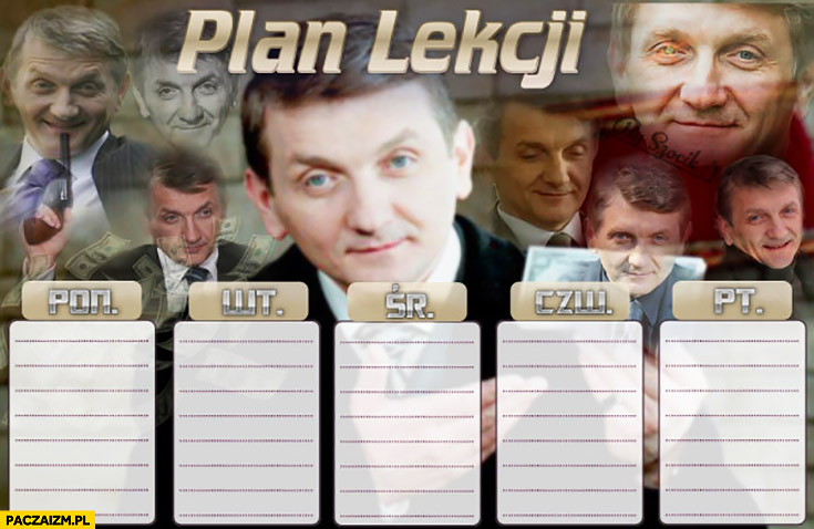 Plan lekcji Janusz Tracz plebania