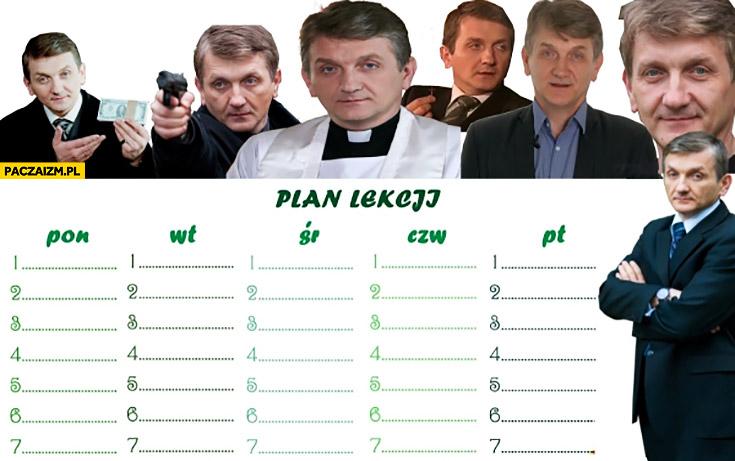 Plan lekcji z Januszem Traczem plebania