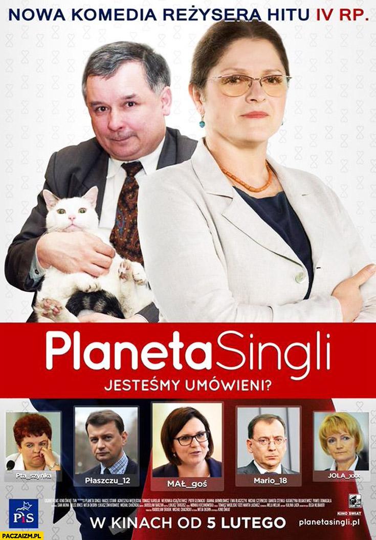 Planeta singli PiS Pawłowicz Kaczyński z kotem film przeróbka plakatu