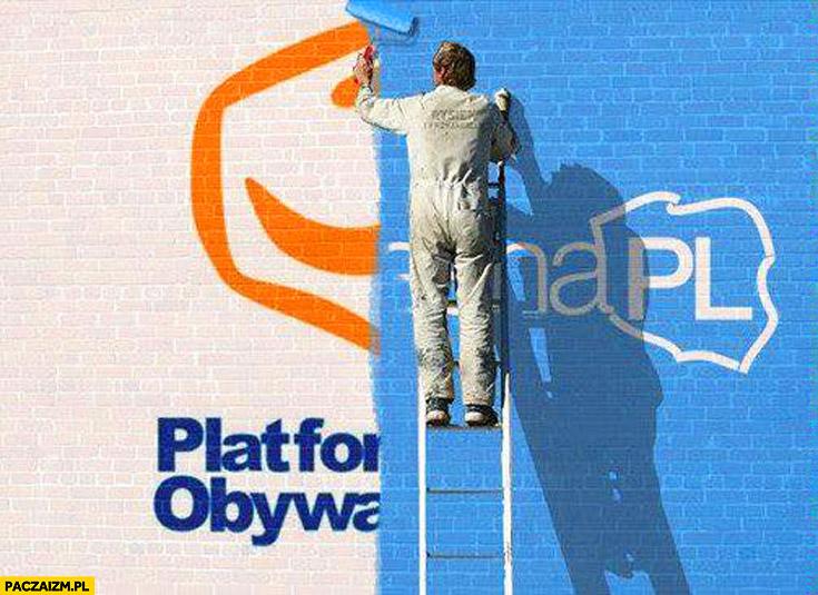 Platforma Obywatelska przemalowana na Nowoczesna PL