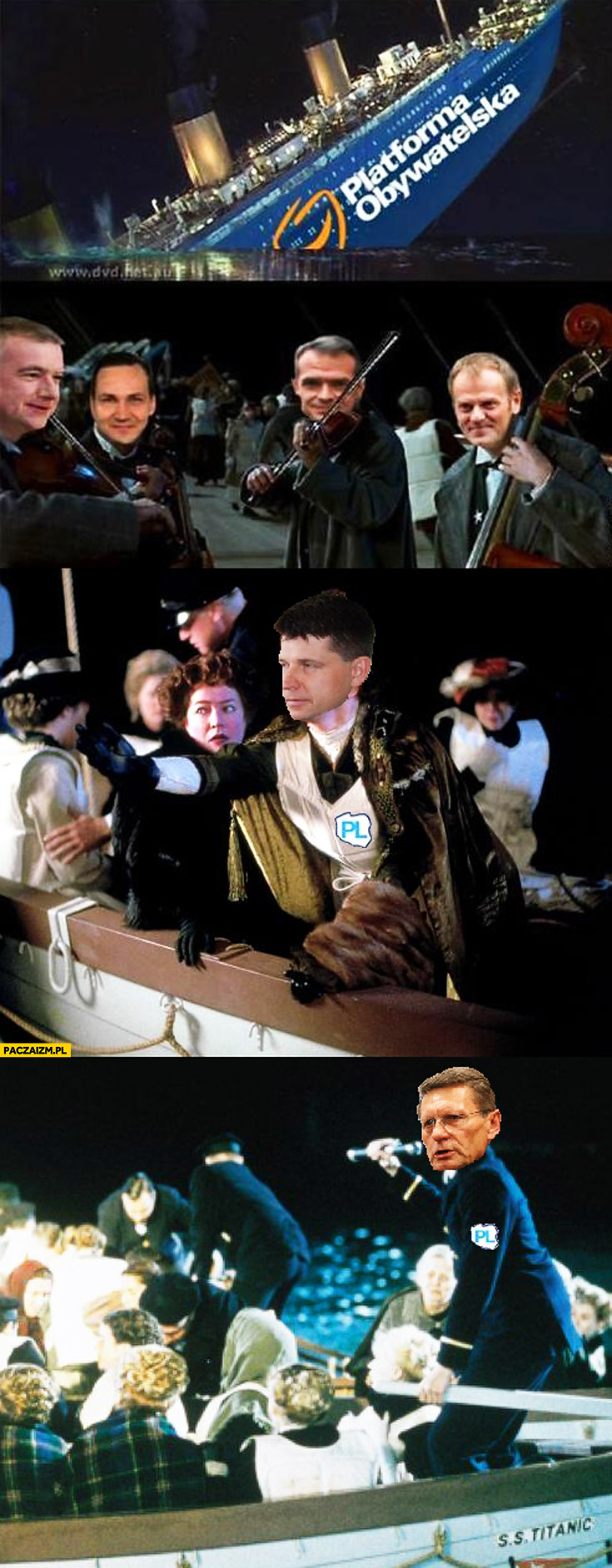 Platforma Obywatelska Titanic tonie Ryszard Petru Balcerowicz Nowoczesna PL szalupa ratunkowa