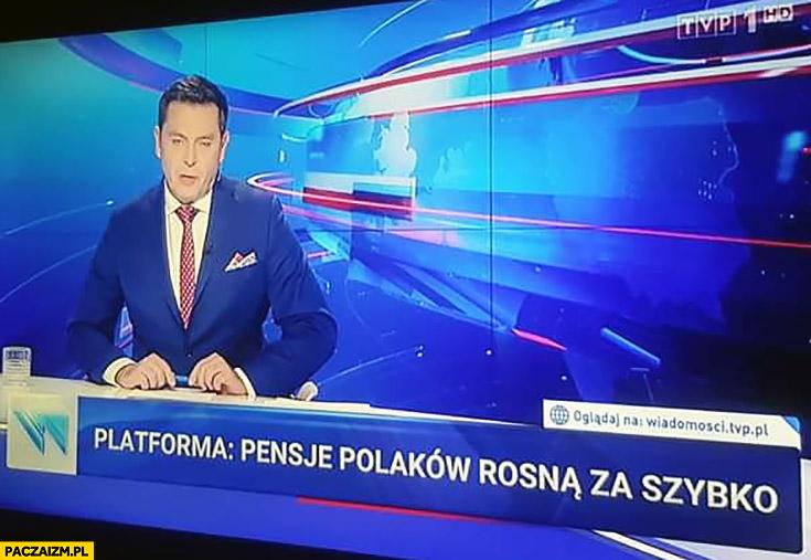 Platforma: pensje Polaków rosną za szybko pasek Wiadomości TVP