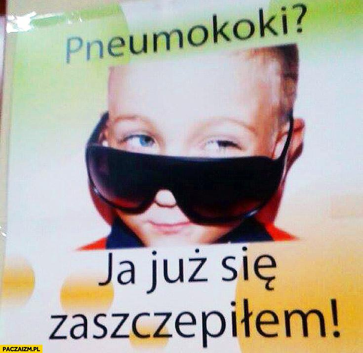 Pneumokoki ja już się zaszczepiłem młody w okularkach