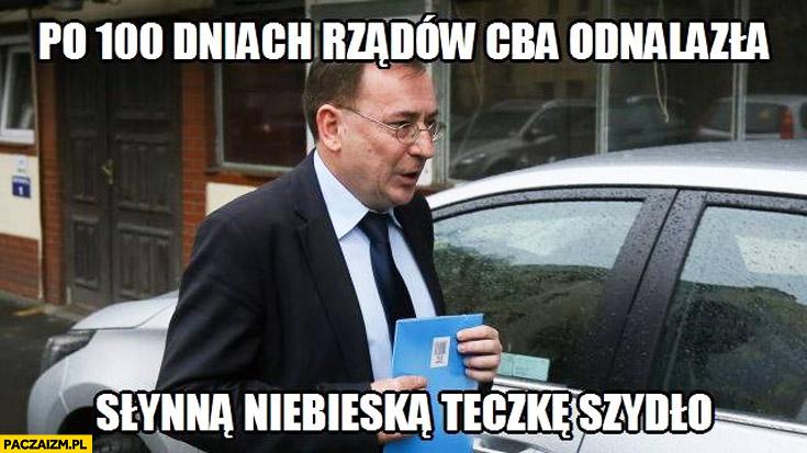 Po 100 dniach rządów CBA odnalazła słynną niebieską teczkę Szydło Kamiński PiS