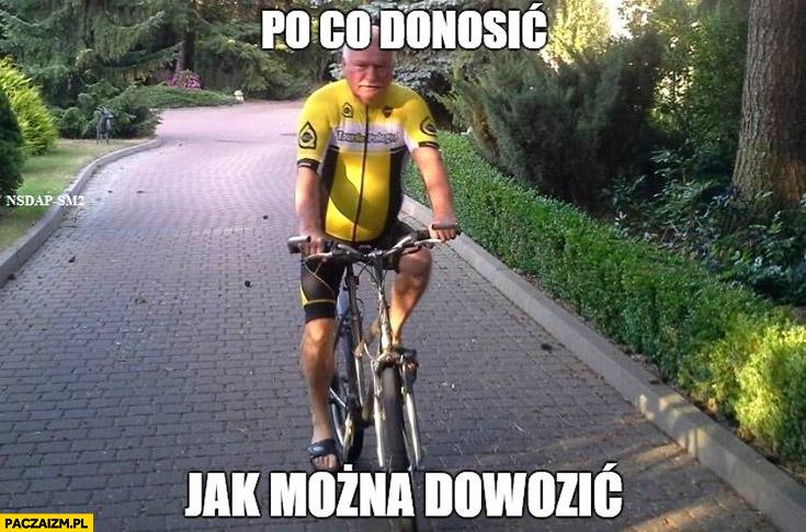 Po co donosić jak można dowozić? Lech Wałęsa Bolek na rowerze