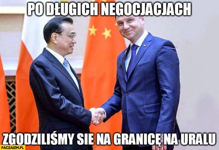 Po długich negocjacjach zgodziliśmy się na granicę Uralu Duda w Chinach