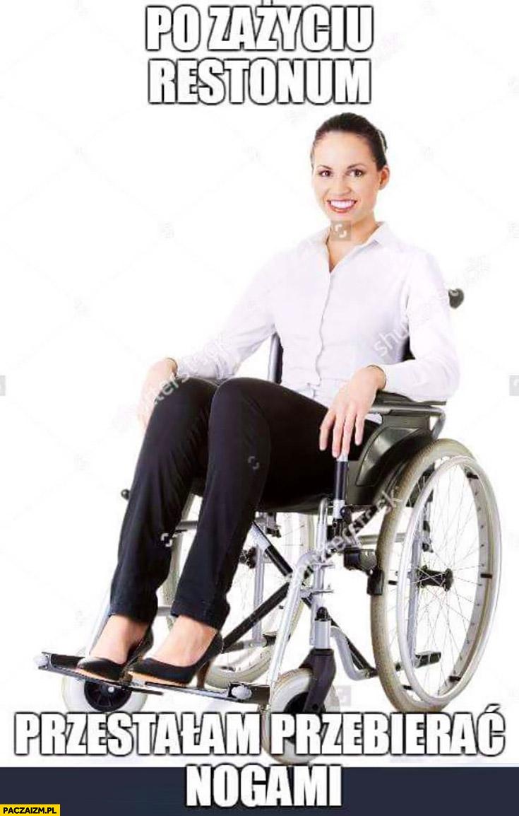 Po zażyciu Restonum przestałam przebierać nogami kobieta na wózku inwalidzkim