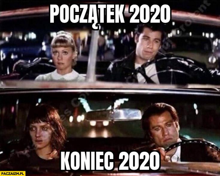 Początek 2020 vs koniec 2020 Pulp Fiction