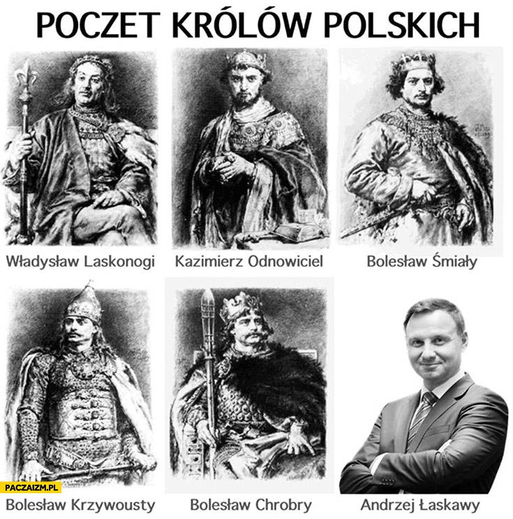 Poczet królów polskich Andrzej Łaskawy Duda