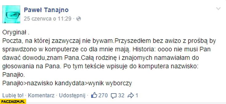 Poczta Paweł Tanajno Panajło