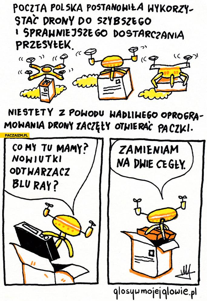 Poczta Polska drony zaczęły otwierać paczki