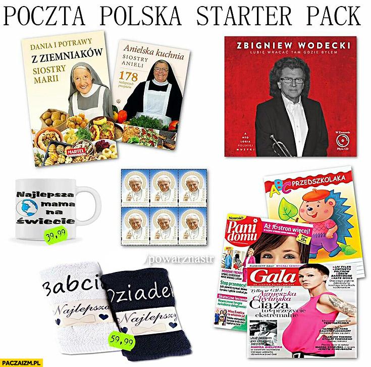 Poczta Polska starter pack oferta produktów dodatkowych typowa placówka poczty
