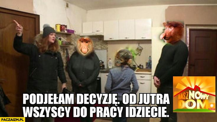 Podjęłam decyzje od jutra wszyscy idziecie do pracy Nasz nowy dom Polsat typowy Polak małpa nosacz