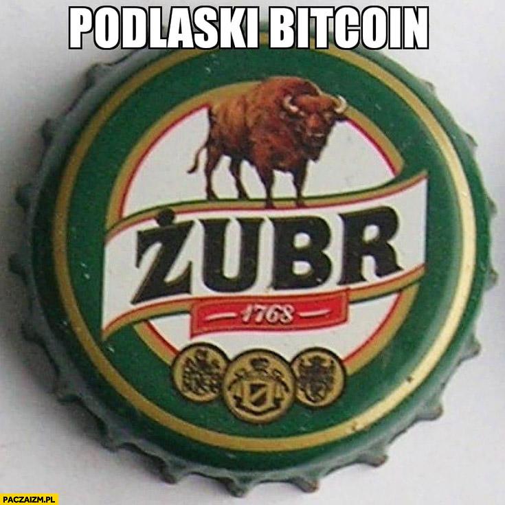 Podlaski bitcoin kapsel Żubra piwo Żubr