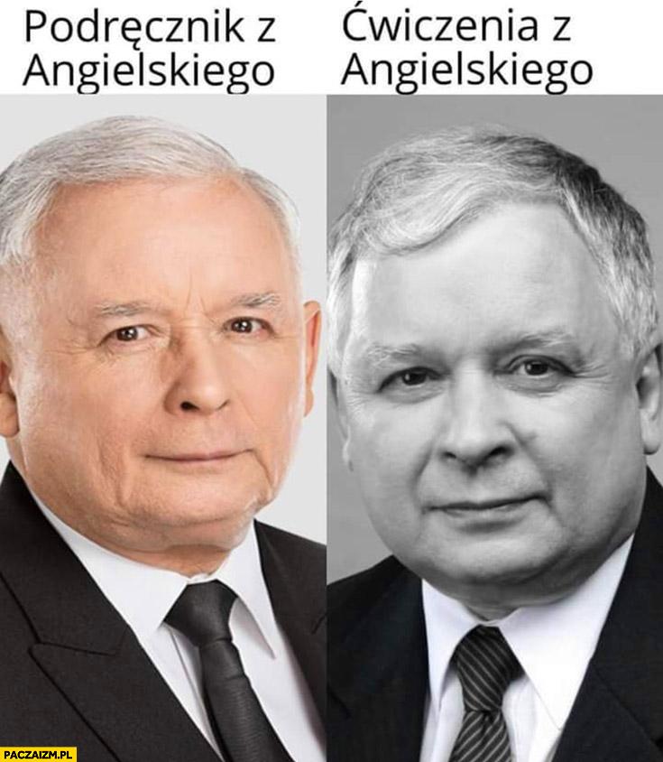 Podręcznik z angielskiego vs ćwiczenia z angielskiego ksero Kaczyński Lech Jarosław