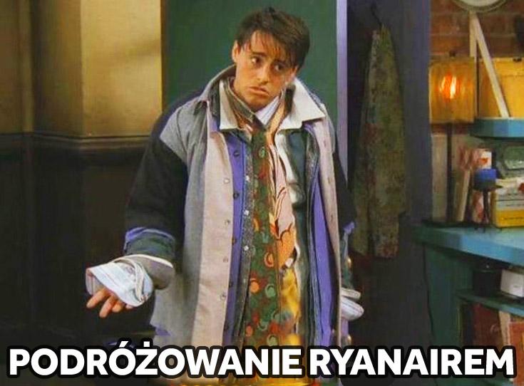 Podróżowanie Ryanairem Joey przyjaciele