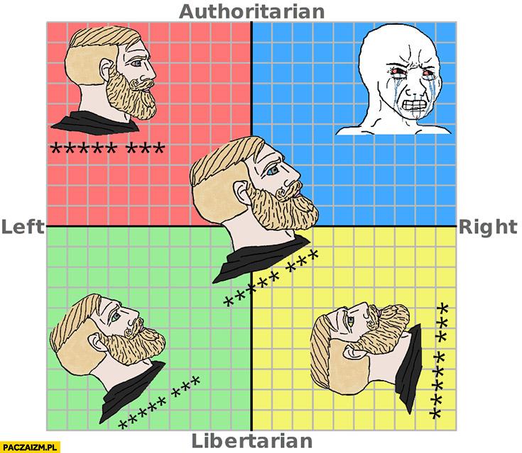 Poglądy polityczne wszyscy jechać PiS oprócz nacjonalistycznych prawicowców