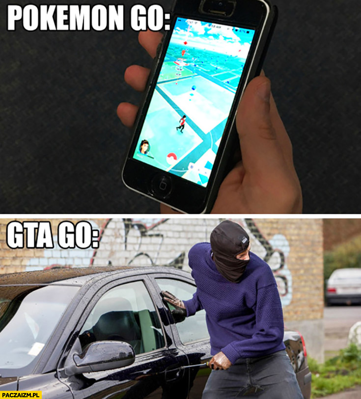 Pokemon GO, GTA GO porównanie gier