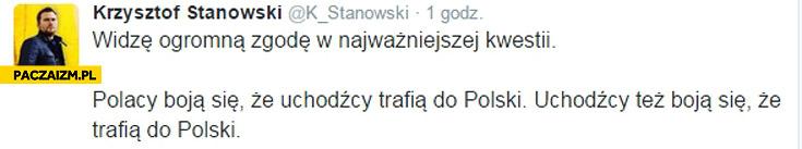 Polacy boją się że uchodźcy trafią do Polski, uchodźcy też boją się że trafią do Polski