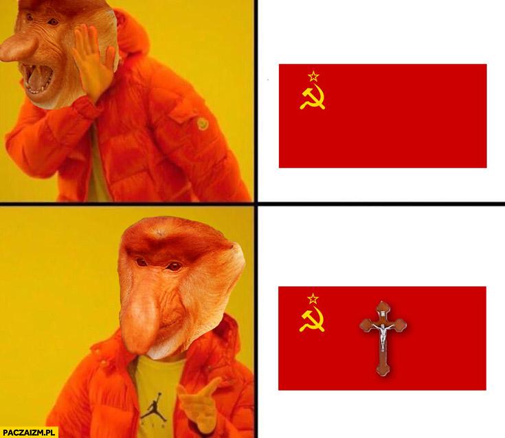 Polacy sam komunizm – nie, komunizm z katolicyzmem – tak. Typowy Polak nosacz małpa