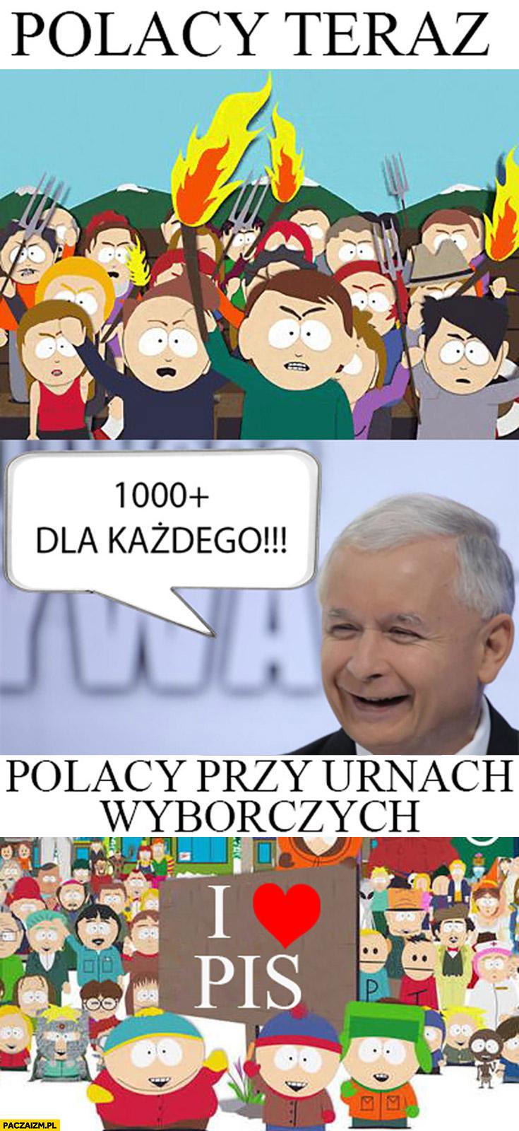 Polacy teraz protest Kaczyński 1000 plus dla każdego, Polacy przy urnach wyborczych kochają PiS