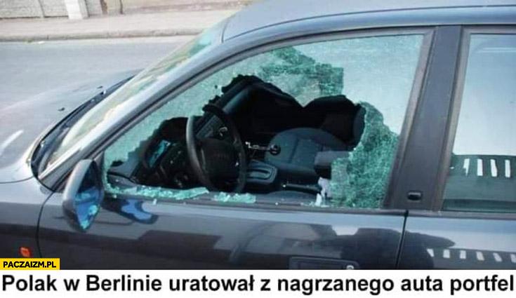 Polak w Berlinie uratował z nagrzanego auta portfel