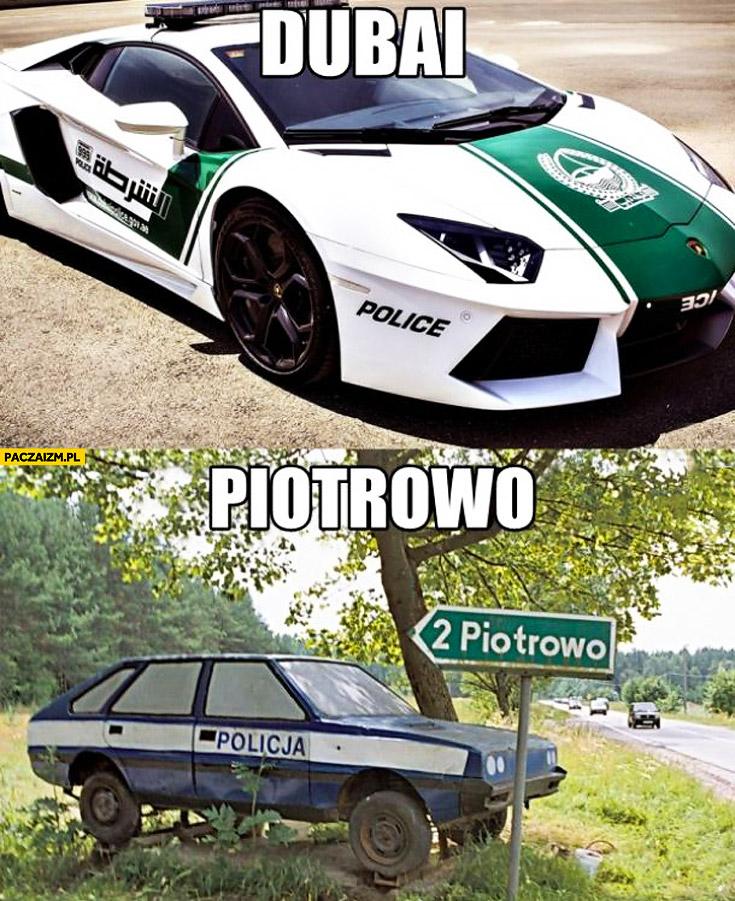 Policja Dubaj Lamborghini Aventador Piotrowo Polonez