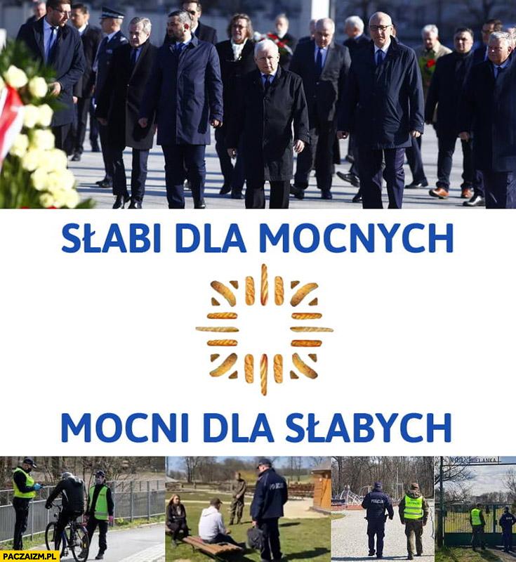 Policja słabi dla mocnych, mocni dla słabych PiS rocznica Smoleńska wlepianie mandatów ludziom