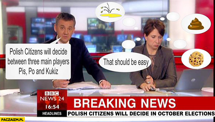 Polish citizens will decide between three main players PiS PO and Kukiz that should be easy