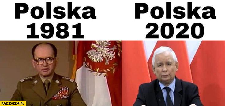 Polska 1981 Jaruzelski, Polska 2020 Kaczyński