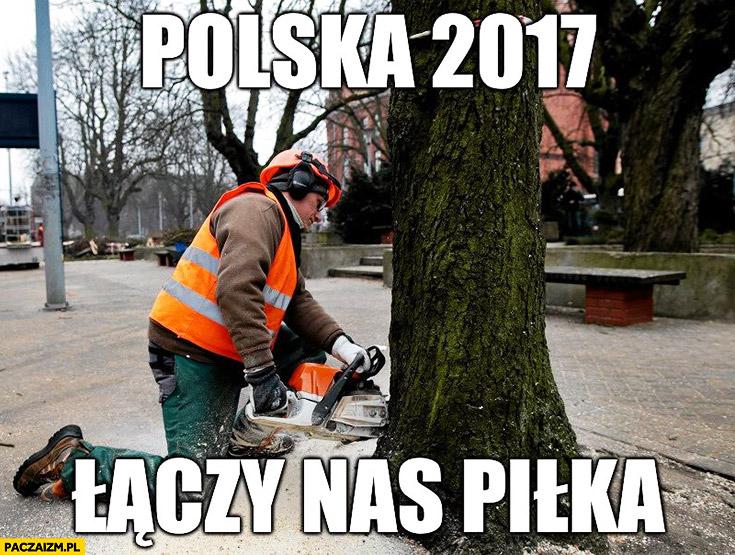 Polska 2017 łączy nas piłka wycinka drzew