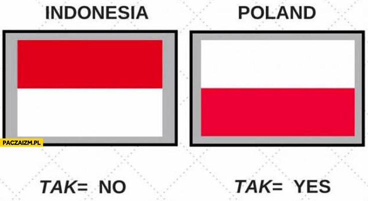 Polska Indonezja tak=no tak=yes