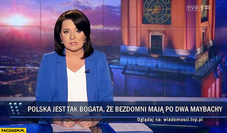Polska jest tak bogata, że bezdomni mają po dwa Maybachy Rydzyk dostał samochód od bezdomnego Wiadomości TVP pasek