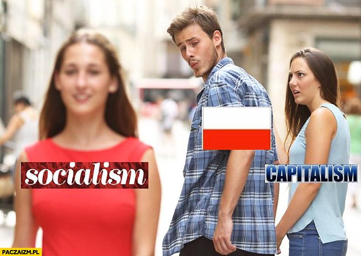 Polska kapitalizm nie chce ogląda się za socjalizmem czerwona sukienka