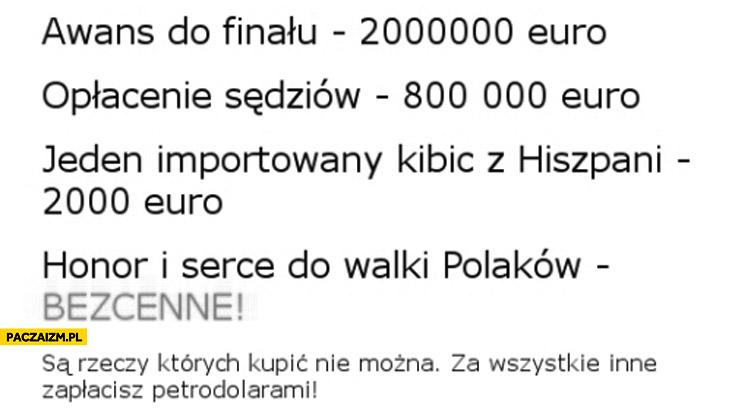 Polska Katar honor i serce bezcenne są rzeczy ktorych kupić nie można za inne zapłacisz petrodolarami