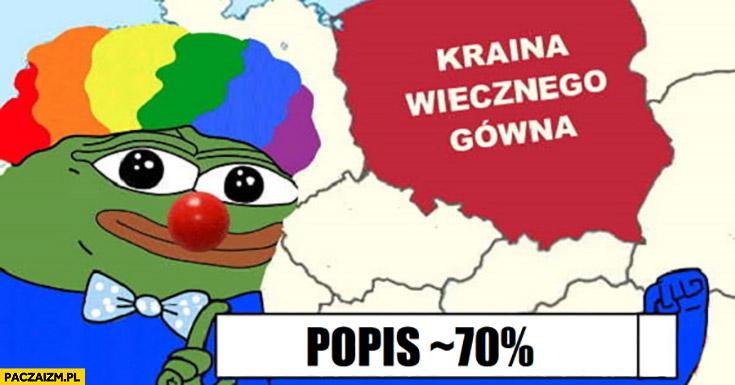Polska kraina wiecznego gówna popis 70% procent poparcia w wyborach