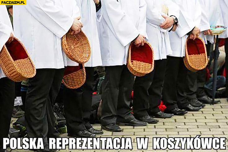 Polska reprezentacja w koszykówce księża z koszyczkiem