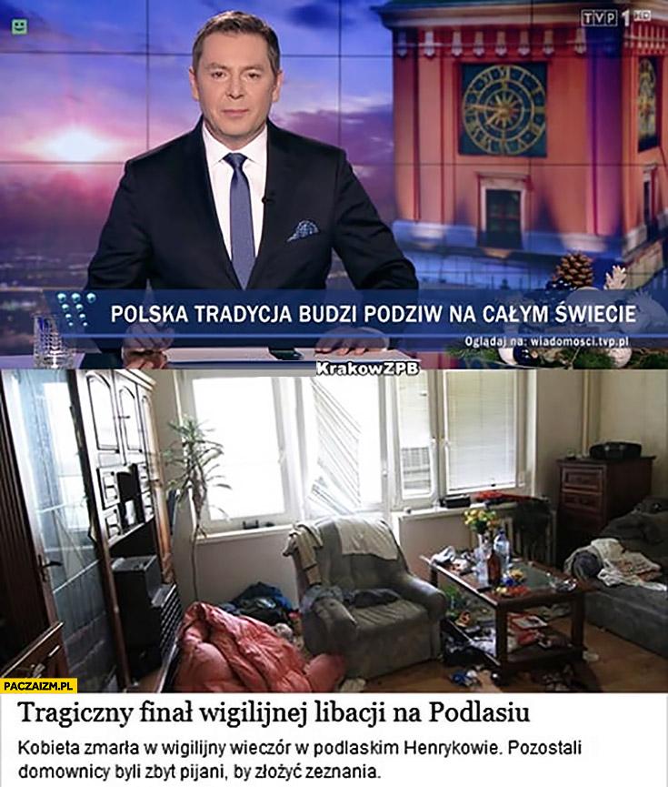 Polska tradycja budzi podziw na całym świecie tragiczny finał wigilijnej libacji na Podlasiu Wiadomości TVP