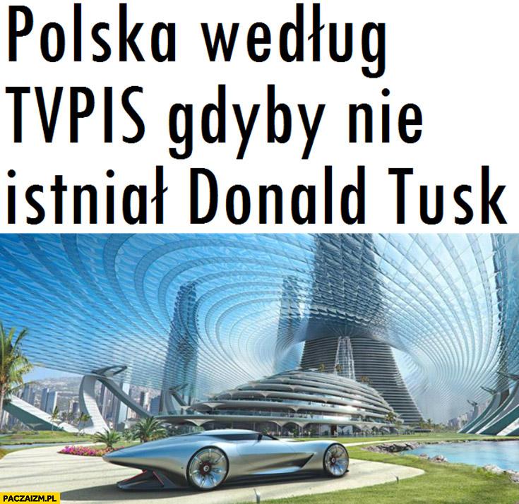Polska według TVPiS gdyby nie istniał Donald Tusk futurystyczna przyszłość