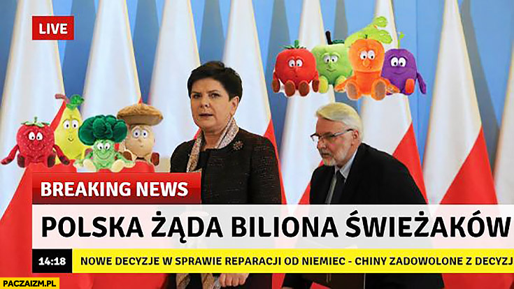 Polska żąda biliona świeżaków breaking news reparacje od Niemiec