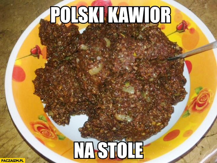 Polski kawior na stole kaszanka