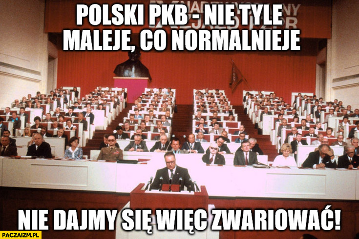Polski PKB nie tyle maleje co normalnieje. Nie dajmy się więc zwariować
