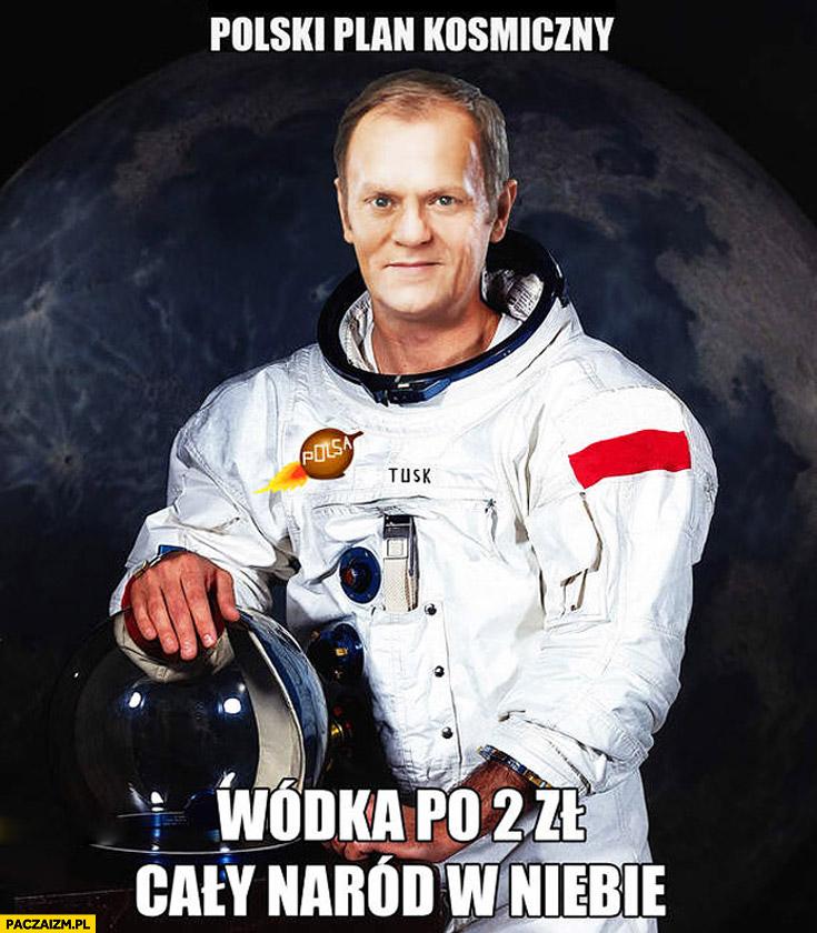 Polski plan kosmiczny wódka po 2 zł i cały naród w niebie Tusk