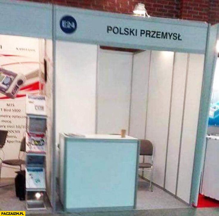 Polski przemysł stoisko na targach puste biedne
