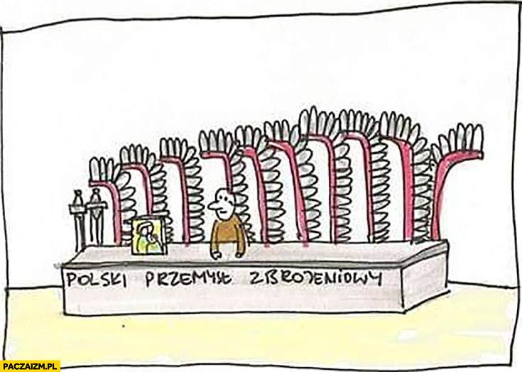 Polski przemysł zbrojeniowy husaria doczepiane pióra
