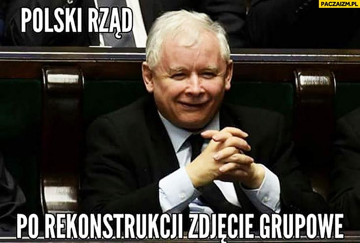 Polski rząd po rekonstrukcji zdjęcie grupowe sam Kaczyński