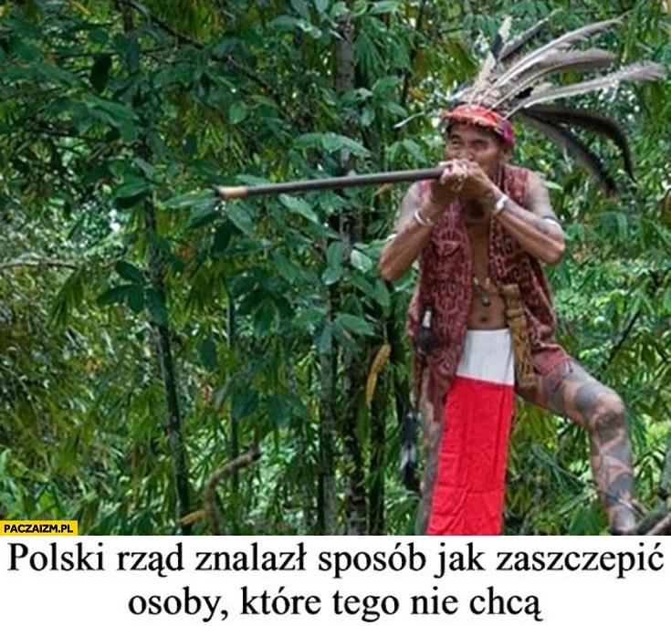 Polski rząd znalazł sposób jak zaszczepić osoby które tego nie chcą strzelając na odległość