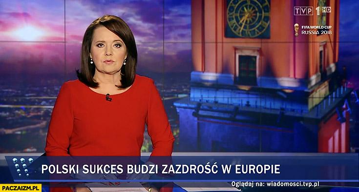 Polski sukces budzi zazdrość w Europie prawdziwy autentyczny pasek Wiadomosci TVP Danuta Holecka