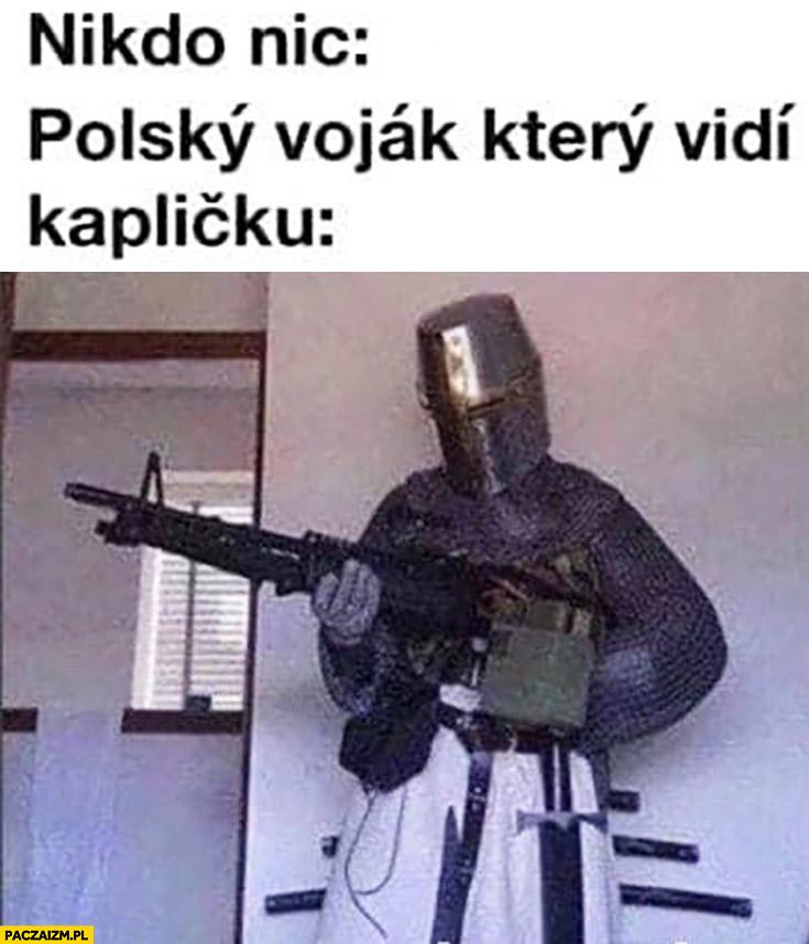 Polski żołnierz który zajął kapliczkę w Czechach czeskie memy